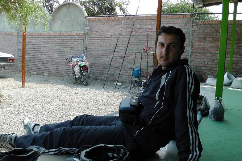 استراحت دوچرخه سوار !!!